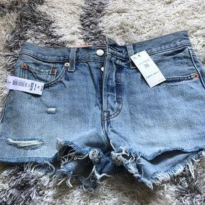 NWT Levi's 501 jean shorts - size 26